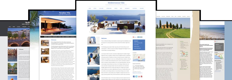 Holiday Rental Website Design For Cottages Villas Apartments BBs Custom Apartment Website Design